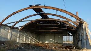 Demolice střechy Cerhenice